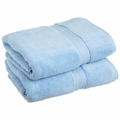 Spring Grove 900 GSM Premium Long-Staple Combed Cotton Towel Set (Set of 2) Color: Light Blue