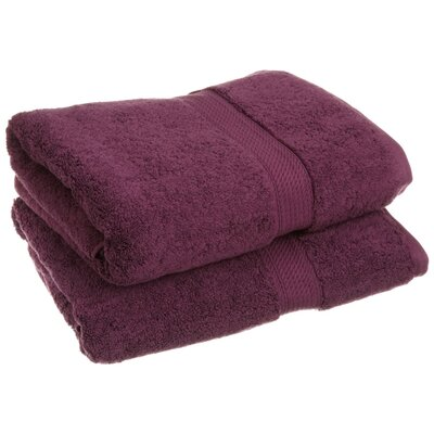 Superior 2 Piece Towel Set Color: Plum