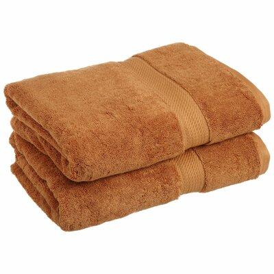 Spring Grove 900 GSM Premium Long-Staple Combed Cotton Towel Set (Set of 2) Color: Rust