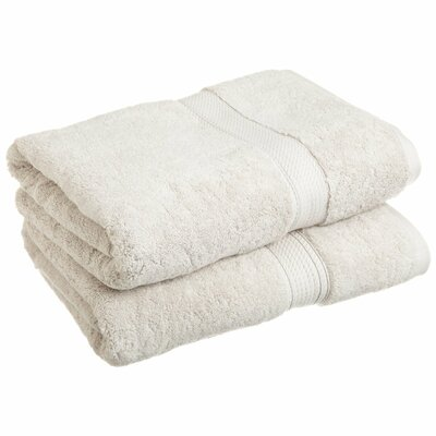 Spring Grove 900 GSM Premium Long-Staple Combed Cotton Towel Set (Set of 2) Color: Stone