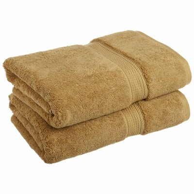 Spring Grove 900 GSM Premium Long-Staple Combed Cotton Towel Set (Set of 2) Color: Toast