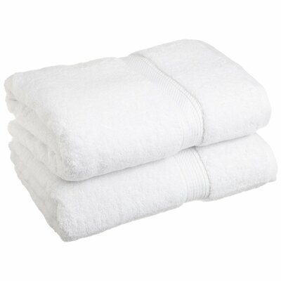Superior 2 Piece Towel Set Color: White