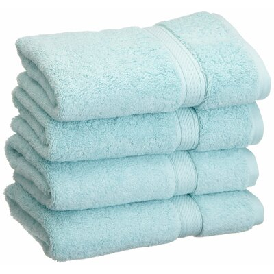 Spring Grove 900GSM Premium Long-Staple Combed Cotton Hand Towel Color: Sea Foam
