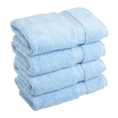 Spring Grove 900GSM Premium Long-Staple Combed Cotton Hand Towel Color: Light Blue