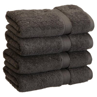 Spring Grove 900GSM Premium Long-Staple Combed Cotton Hand Towel Color: Charcoal