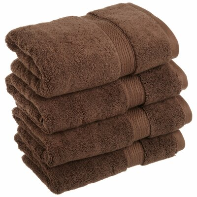 Spring Grove 900GSM Premium Long-Staple Combed Cotton Hand Towel Color: Chocolate