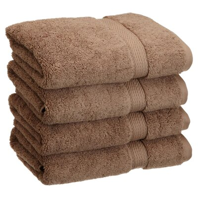 Spring Grove 900GSM Premium Long-Staple Combed Cotton Hand Towel Color: Latte