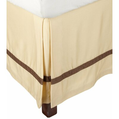 Parish 300 Thread Count Cotton Bed Skirt Size: Twin, Color: Honey / Mocha