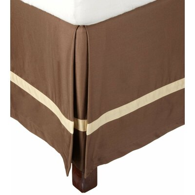 Parish 300 Thread Count Cotton Bed Skirt Size: Twin, Color: Mocha / Honey
