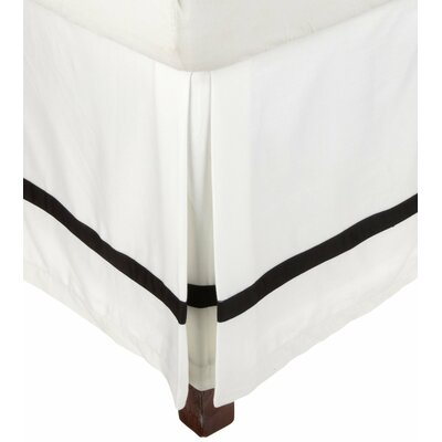 Parish 300 Thread Count Cotton Bed Skirt Color: White / Black, Size: California King