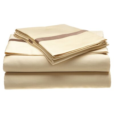 Parish 300 Thread Count 100% Cotton Sheet Set Color: Honey / Mocha, Size: California King