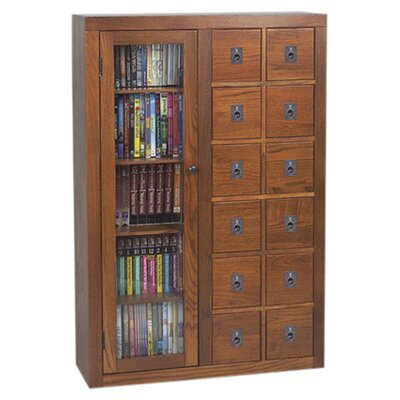 Shillington 12 Drawer Multimedia Cabinet Color: Dark Oak