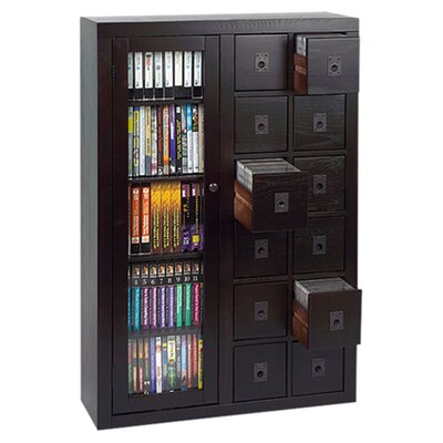 Shillington 12 Drawer Multimedia Cabinet Color: Espresso