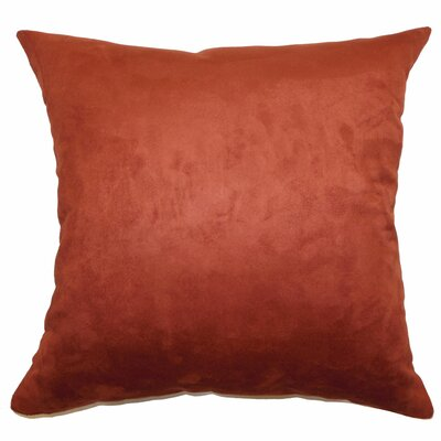 Chesterville Plain Suede Throw Pillow Size: 18x18