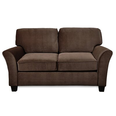 Clayton Loveseat Upholstery: Chocolate