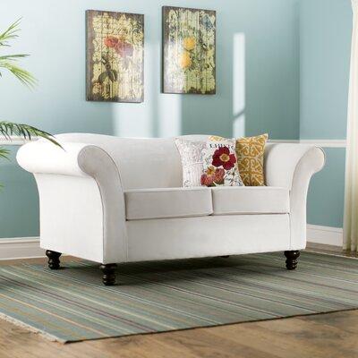 Sophia Loveseat Upholstery: Belvedere Ivory/Bardot Blush