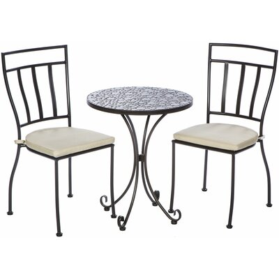 Boundary Bay 3 Piece Bistro Set with Cushions