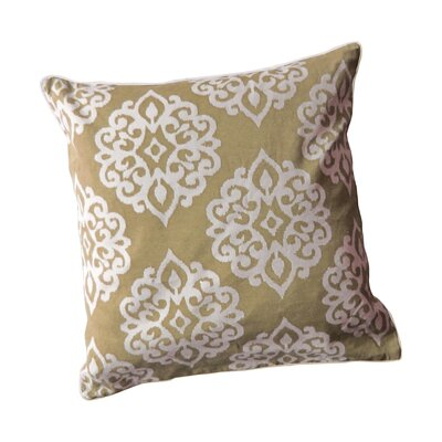 Stroudsburg Zipper Shell Throw Pillow Color: Taupe