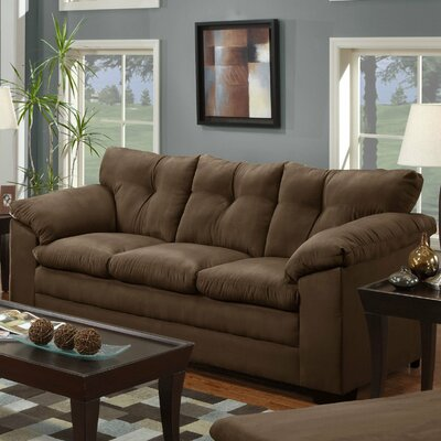 Simmons Upholstery Richland Sofa Upholstery: Luna Chocolate