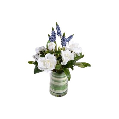 Faux Cape Jasmine Gardenia and Grape Hyacinth