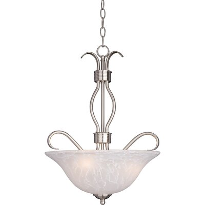 Birdsall 3-Light Bowl Pendant Finish/Shade Finish: Ice/Satin Nickel