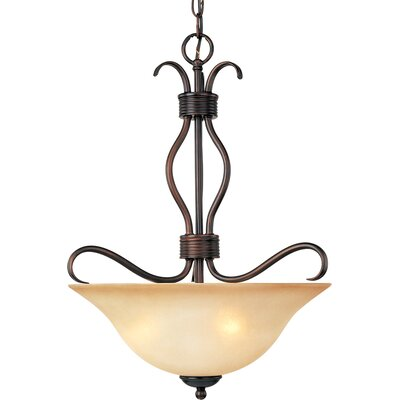 Birdsall 3-Light Bowl Pendant Finish/Shade Color: Wilshire/Oil Rubbed Bronze