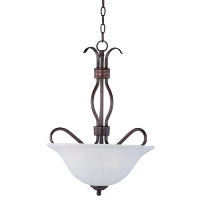 Birdsall 3-Light Bowl Pendant Finish/Shade Finish: Ice/Oil Rubbed Bronze