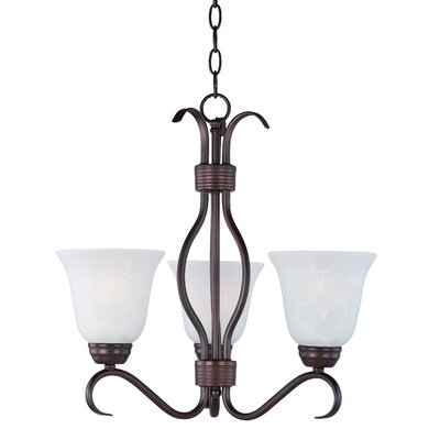 Birdsall 3-Light Shaded Chandelier Finish: Ice with Oil Rubbed Bronze