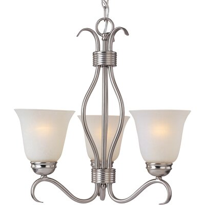 Birdsall 3-Light Shaded Chandelier Finish: Ice with Satin Nickel