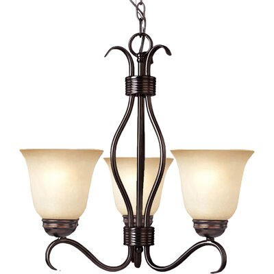 Birdsall 3-Light Shaded Chandelier Finish: Wilshire with Oil Rubbed Bronze