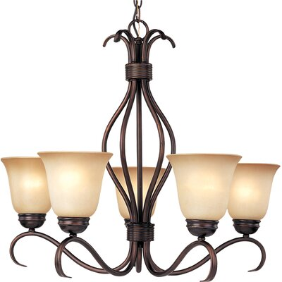 Birdsall 5-Light Shaded Chandelier Finish: Wilshire with Oil Rubbed Bronze