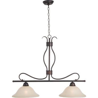 Birdsall 2-Light Kitchen Island Pendant Finish/Shade Finish: Wilshire/Oil Rubbed Bronze