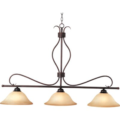 Birdsall 3-Light Kitchen Island Pendant Finish/Shade Color: Wilshire/Oil Rubbed Bronze