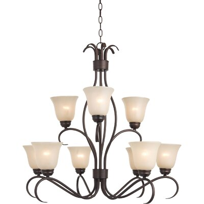 Birdsall 9-Light Shaded Chandelier Finish: Wilshire with Oil Rubbed Bronze