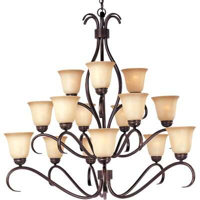 Birdsall 15-Light Shaded Chandelier Finish: Wilshirewith Oil Rubbed Bronze Shade