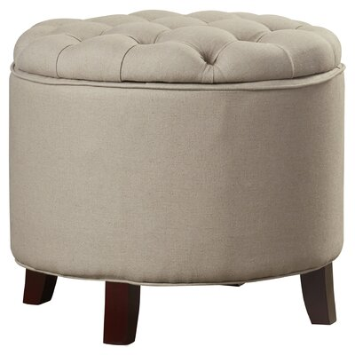 Tusten Storage Ottoman Upholstery: Beige