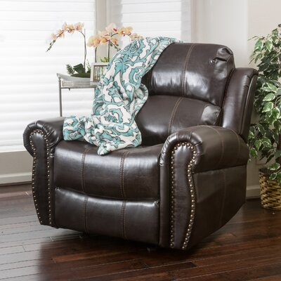 Chatham Gliding Recliner Upholstery: Dark Brown