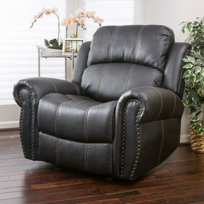 Chatham Manual Glider Recliner Upholstery: Black