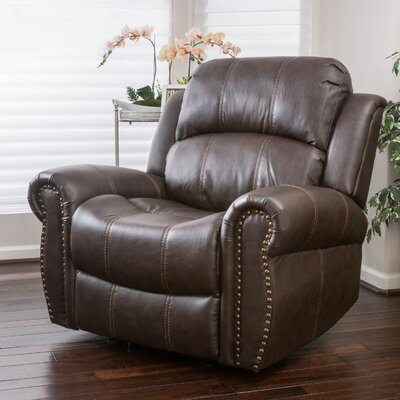Chatham Manual Glider Recliner Upholstery: Brown
