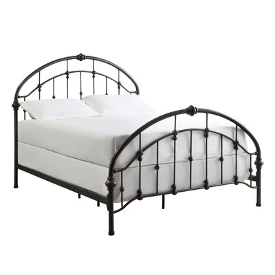Emmalina Panel Bed Size: Queen, Finish: Brushed Bronze