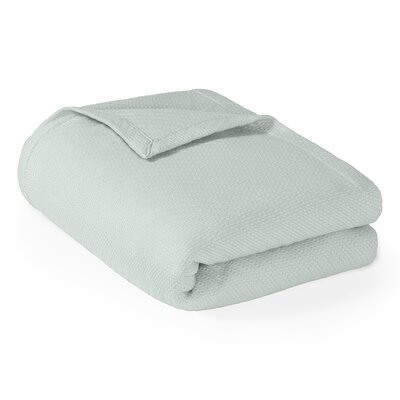 Rye Cotton Throw Blanket Size: Full / Queen, Color: Seafoam