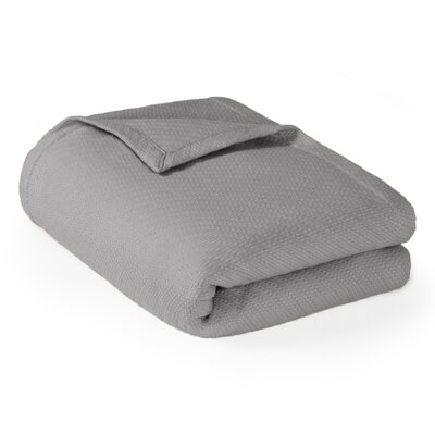 Rye Cotton Throw Blanket Size: Twin, Color: Grey
