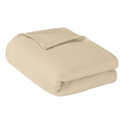 Rye Cotton Throw Blanket Size: Full / Queen, Color: Ivory