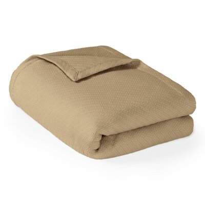 Rye Cotton Throw Blanket Size: King, Color: Linen