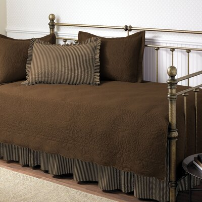 Plimpton Cotton Twin Quilt Set Color: Chocolate