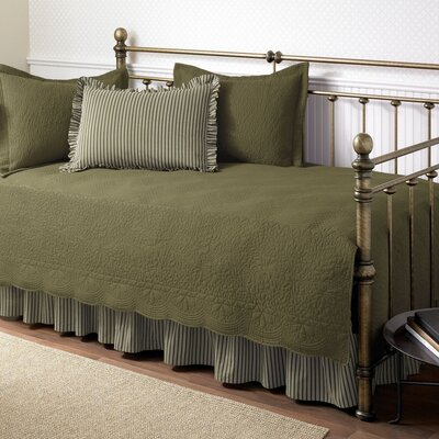 Plimpton Cotton Twin Quilt Set Color: Aloe