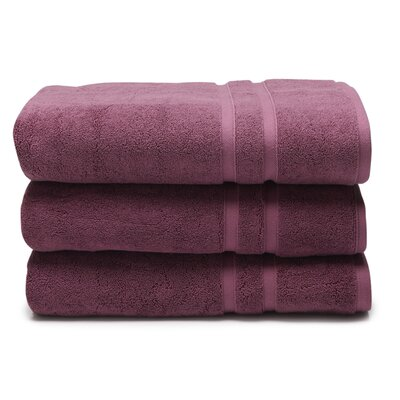 Solid Dobby Cotton Bath Towel Color: Sunset