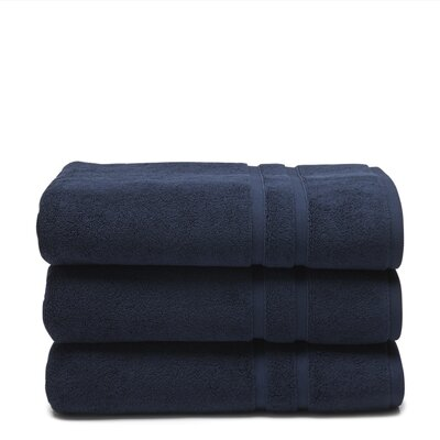 Solid Dobby Cotton Bath Towel Color: Ultramarine