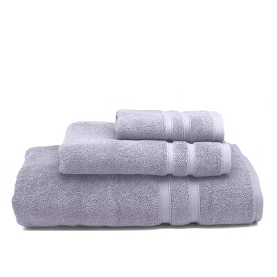 Solid Dobby Cotton Bath Towel Color: Thistle