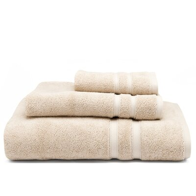 Solid Dobby Cotton Bath Towel Color: Prairie (Light Tan)